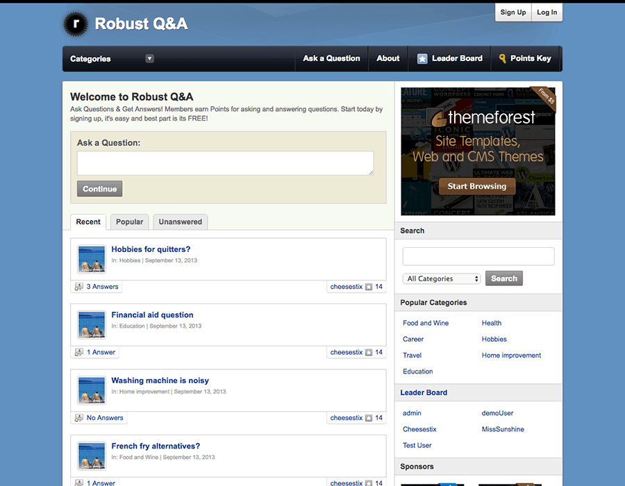 Robust Q&A WordPress Theme