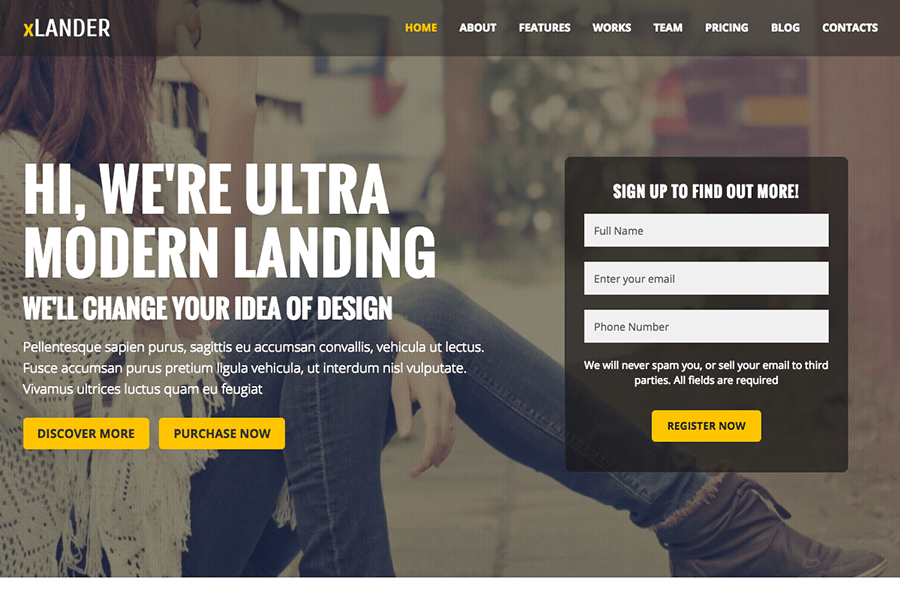 Xlander WordPress Theme